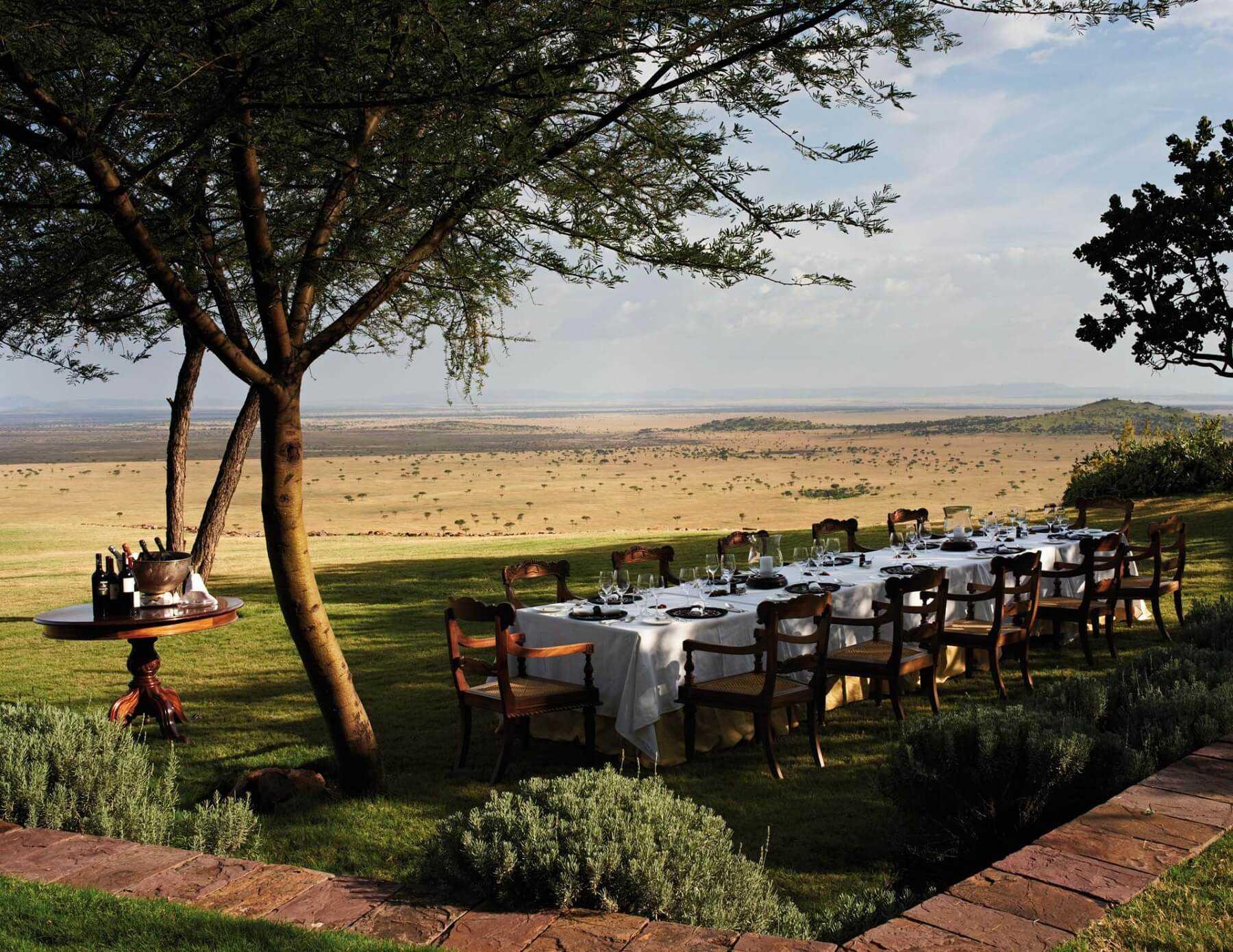Singita Sasakwa Lodge Outdoor Dinner