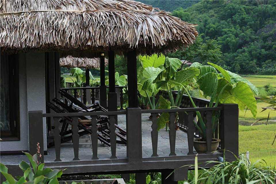 Mai Chau Ecolodge Terrasse