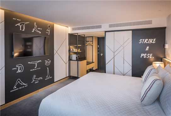 M Social Auckland Doppelzimmer