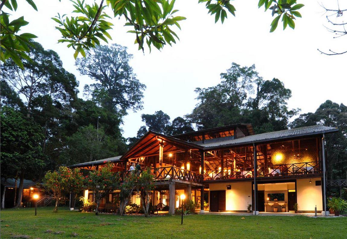 Borneo Rainforest Lodge Außenansicht