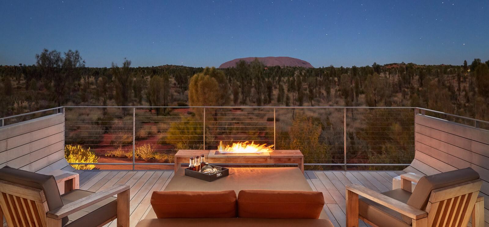 Longitude 131° Luxury Tent Balcony