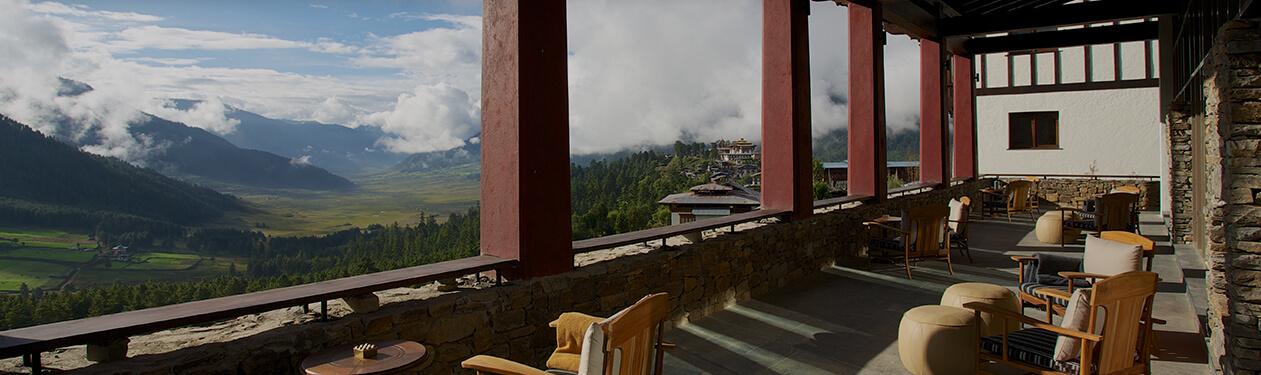 Gangtey Lodge Terrasse