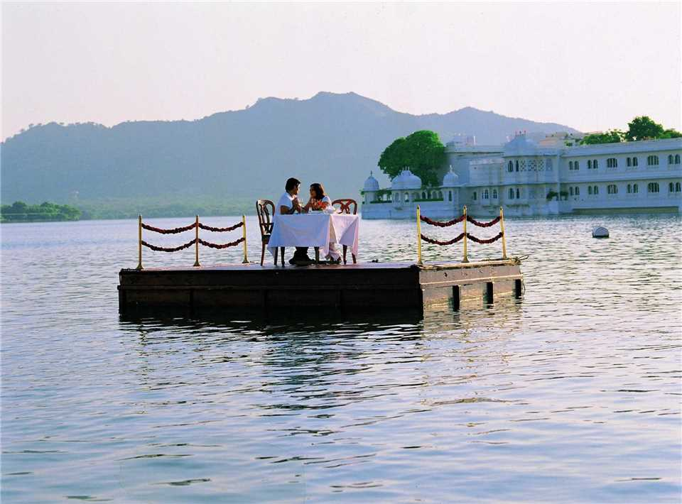 Taj Lake Palace romantisches Dinner