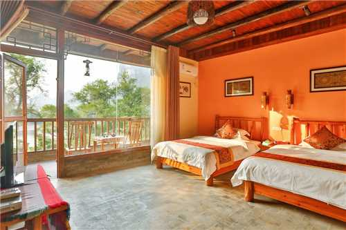 Yangshuo River Lodge Hotel Doppelzimmer mit Terrasse