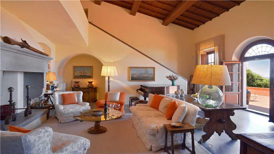 Villa Campolecciano Wohnzimmer - Toskana