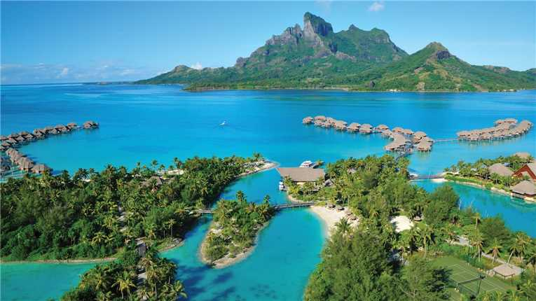 Four Seasons Resort Bora Bora Luftaufnahme