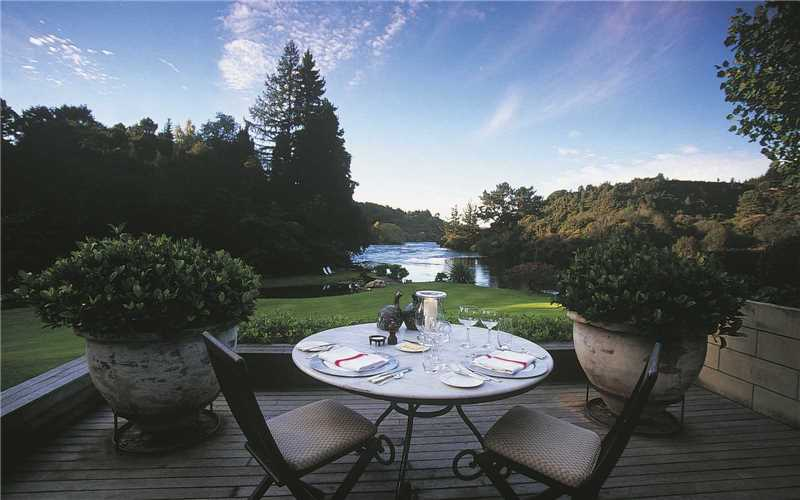 Huka Lodge Terrasse