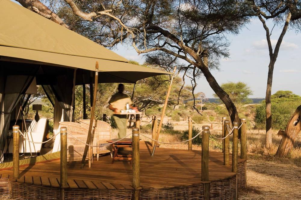 Sanctuary Swala Camp Terrasse