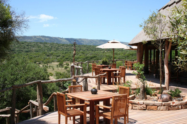 Msenge Bush Lodge Terrasse