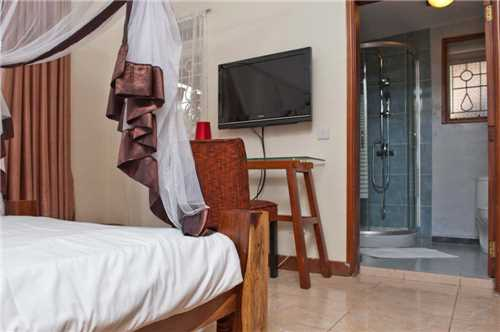 2 Friends Beach Hotel Blick aufs Badezimmer