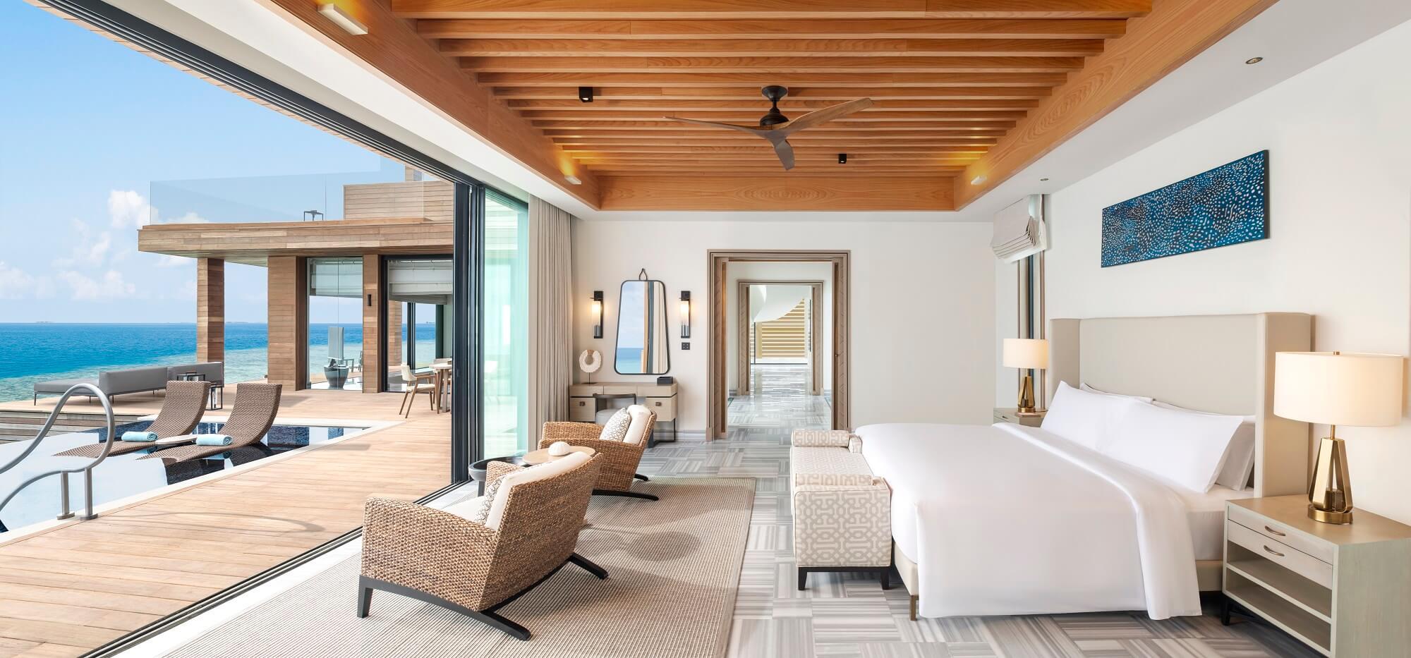 Waldorf Astoria Maldives Stella Maris Bedroom