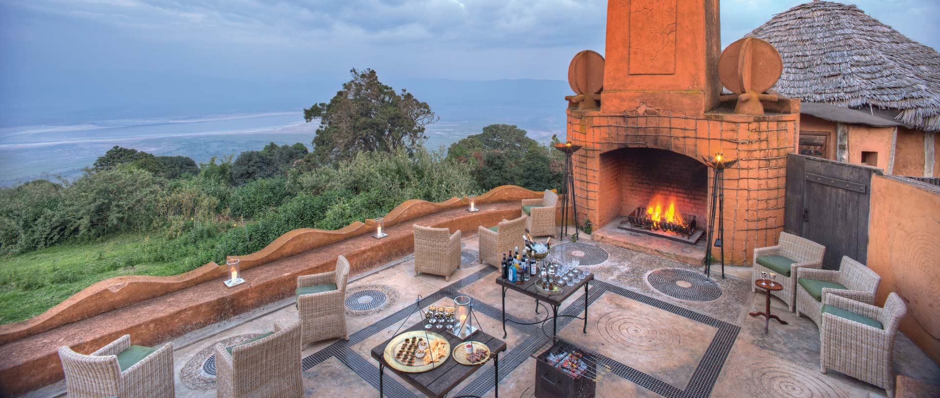 &Beyond Ngorongoro Crater Lodge Terrasse