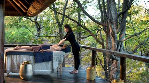 &Beyond Ngala Safari Lodge Wellnessbereich