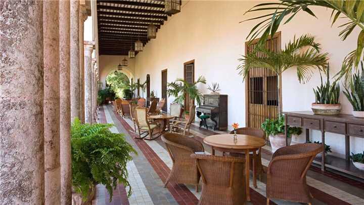 Hacienda Temozón Terrasse