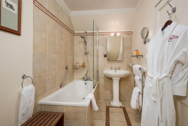 Cringletie House Hotel Luxury Room Badezimmer