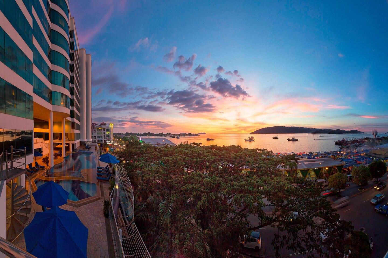 Le Meridien Kota Kinabalu Aussicht