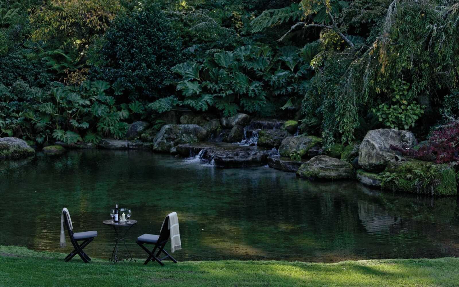 Huka Lodge Garten