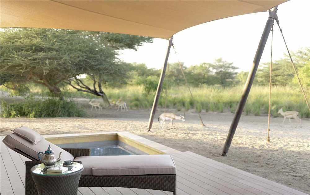 Anantara Sir Bani Yas Island Al Sahel Villas Terrasse mit Pool