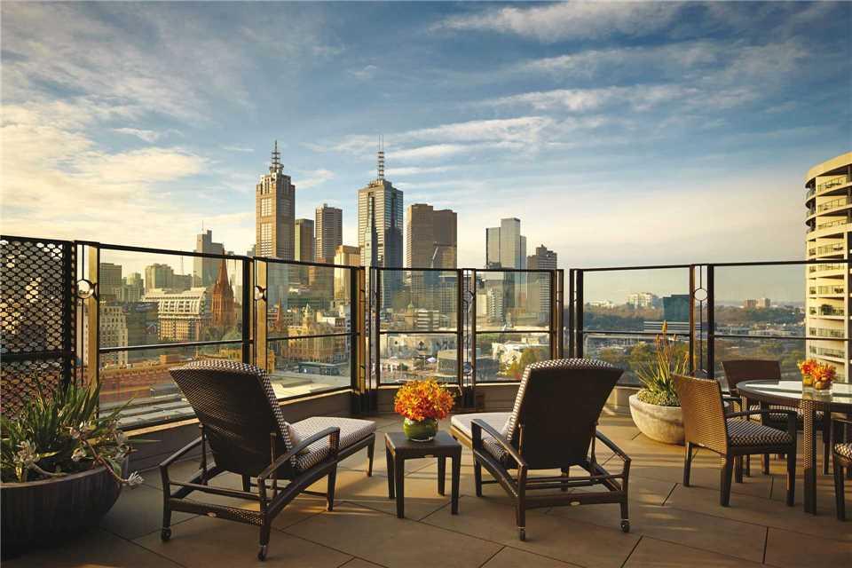 The Langham Melbourne Blick auf Melbourne