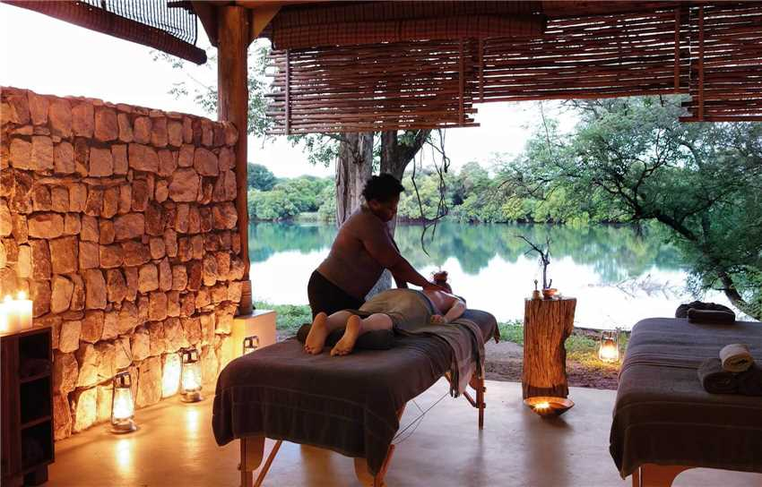 Matetsi River Lodge Wellnessbereich