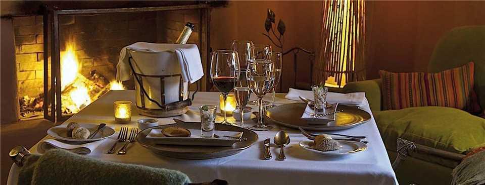 Awasi Atacama Ansicht des Dinners