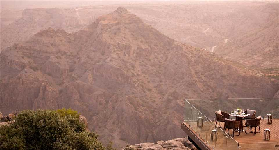 Anantara Al Jabal Al Akhdar Resort Dinner mit Blick