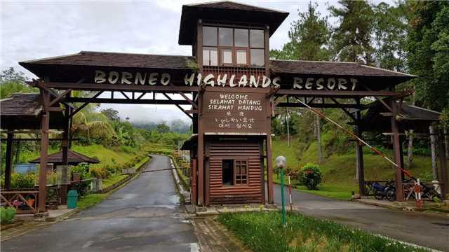 Borneo Highlands Resort Eingang