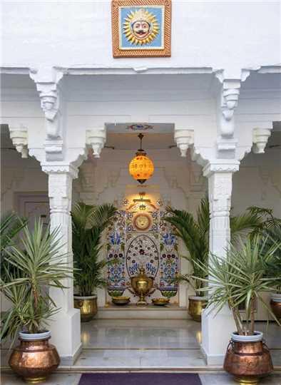 Jagat Niwas Palace Eingangsbereich