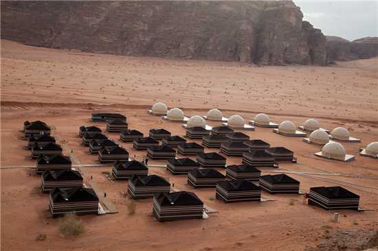 Sun City Camp im Wadi Rum Luftaufnahme
