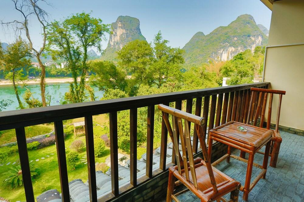 Yangshuo River Lodge Hotel Ausblick auf den Lijang River