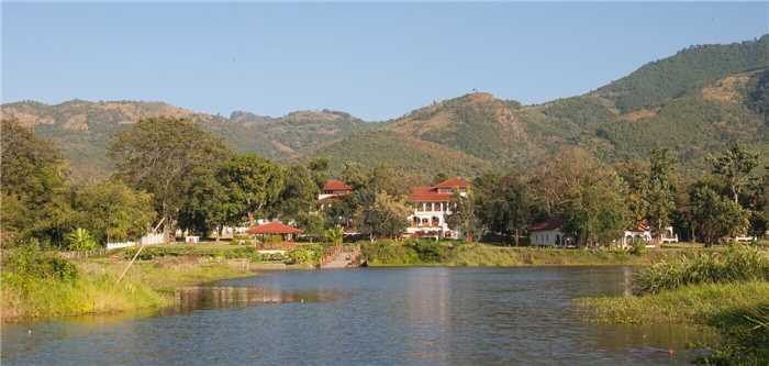 Sanctum Inle Resort Luftaufnahme