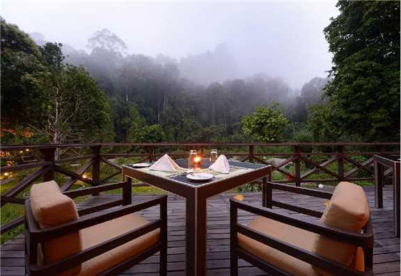 Borneo Rainforest Lodge Terrasse