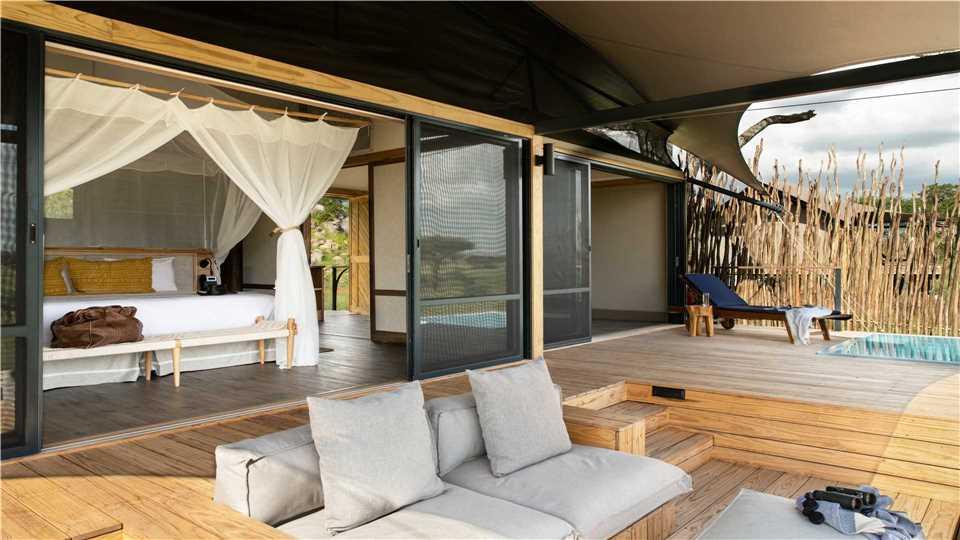 Lemala Nanyukie Tented Camp Bungalow mit Terrasse