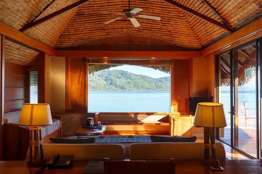 Le Tahaa Island Resort & Spa Zimmerblick