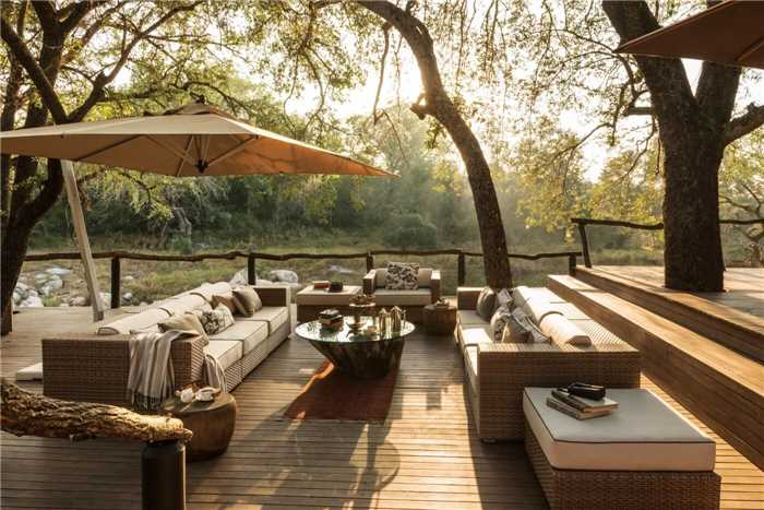 Dulini River Lodge Terrasse mit Aussicht