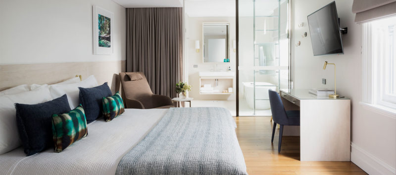 Spicers Potts Point Zimmerbeispiel des Luxe King Rooms