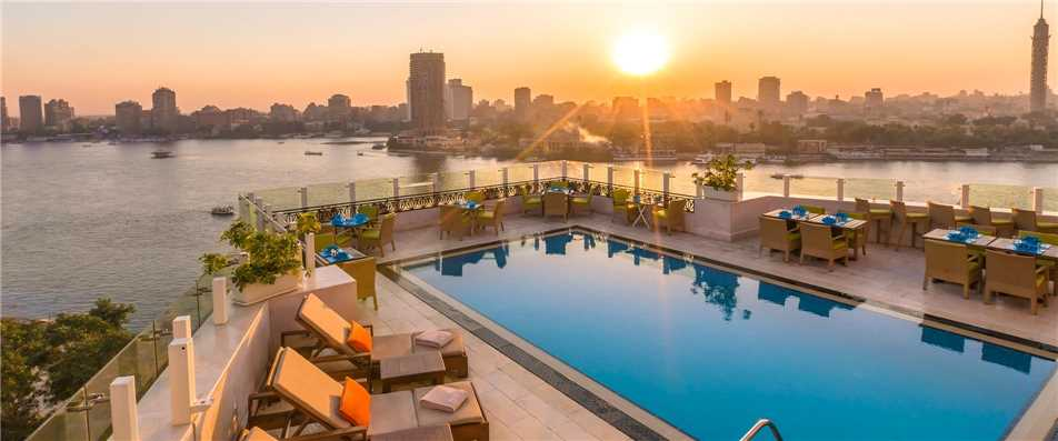 Kempinski Nile Hotel Garden City Cairo Pool