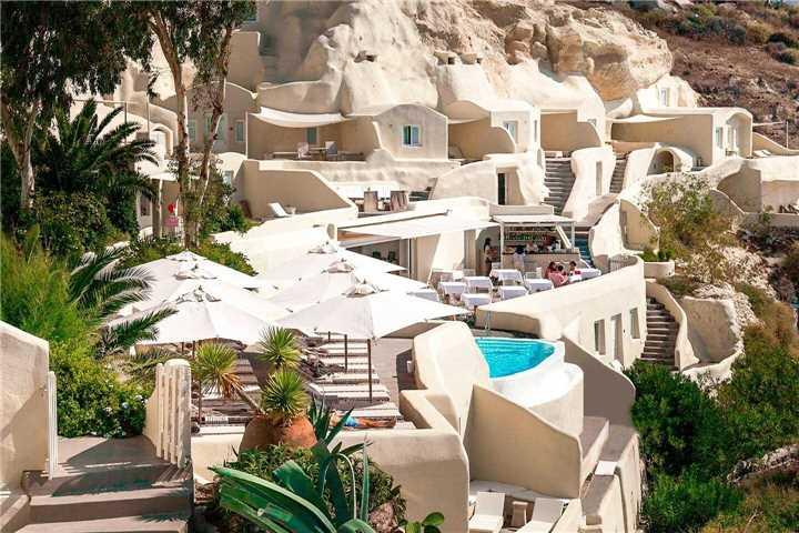 Hotel Mystique Santorini Außenansicht