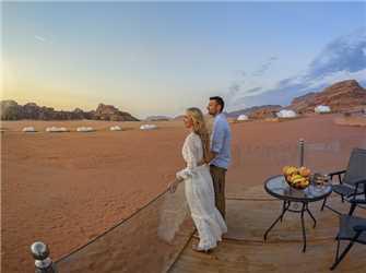 Wadi Rum UFO Luxotel Ausblick