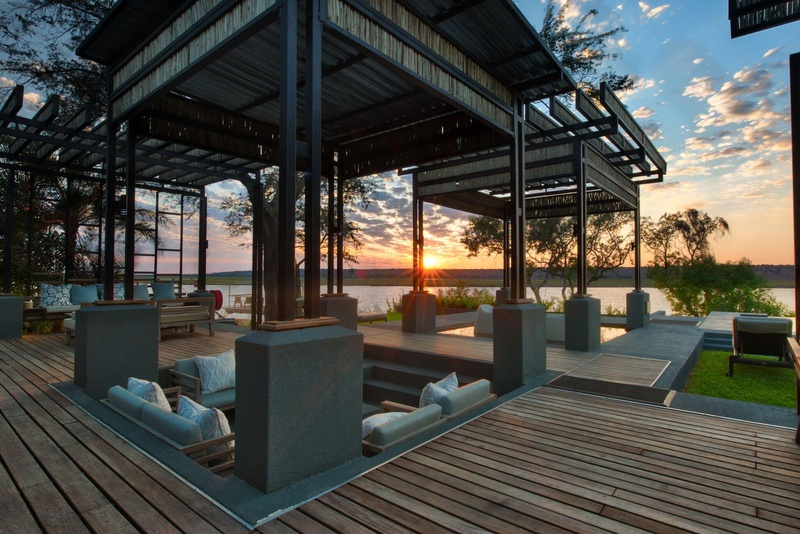 Chobe Water Villas Terrasse