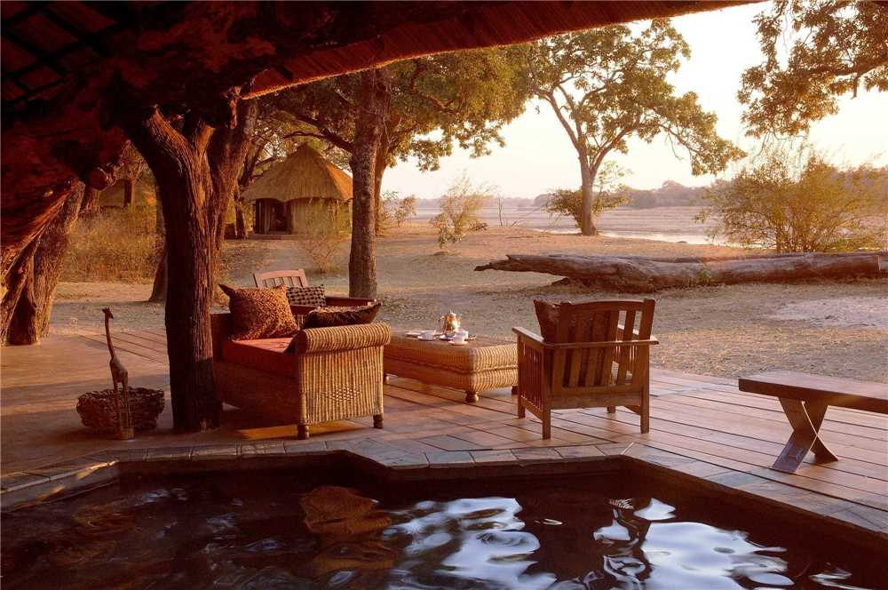 Mchenja Bush Camp Terrasse