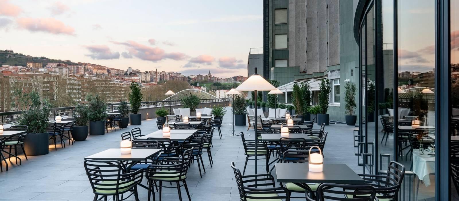 Hotel Vincci Consulado de Bilbao Terrasse Restaurant