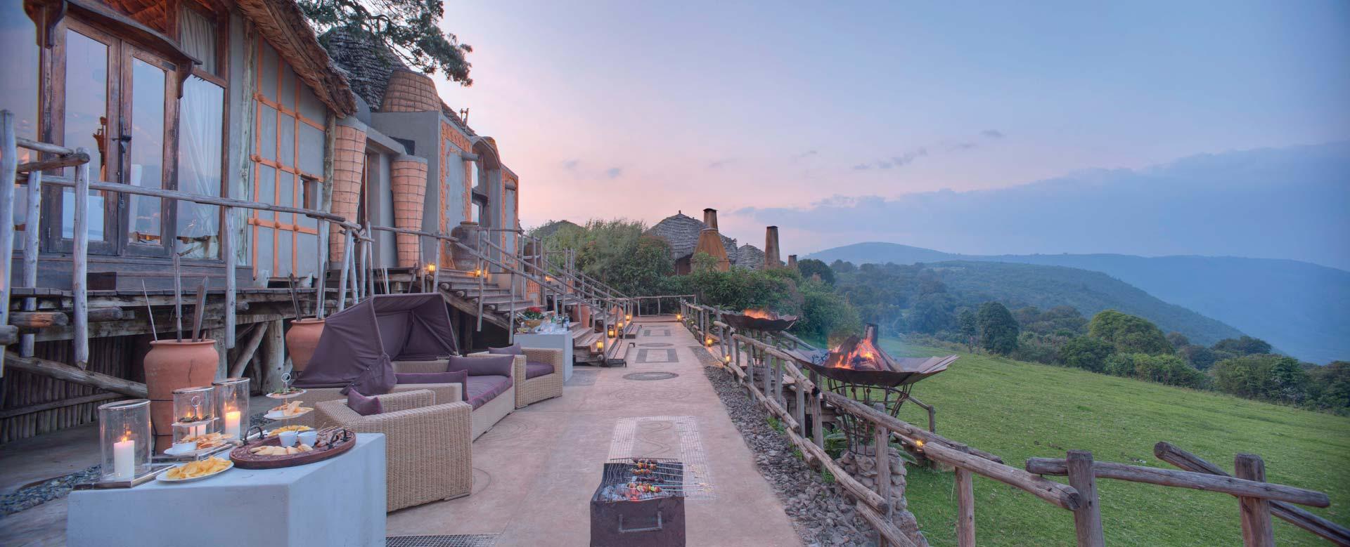 &Beyond Ngorongoro Crater Lodge Ausblick