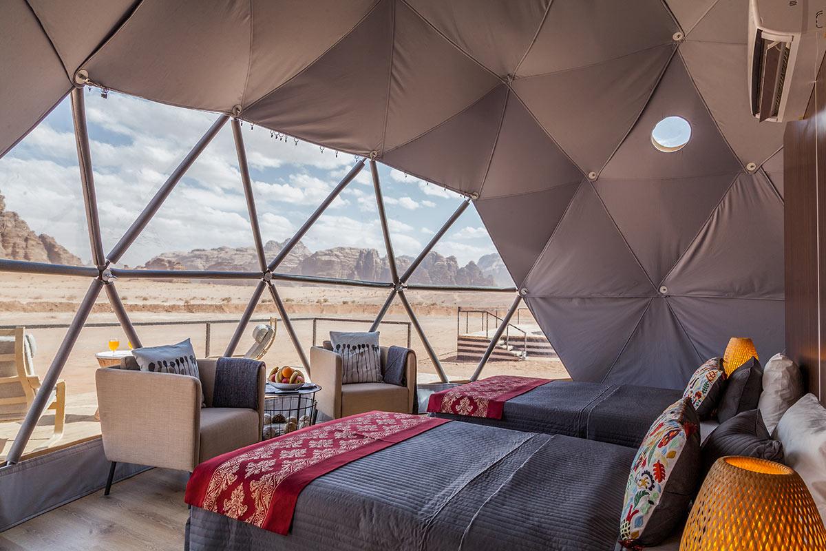 Sun City Camp im Wadi Rum Zelt von innen