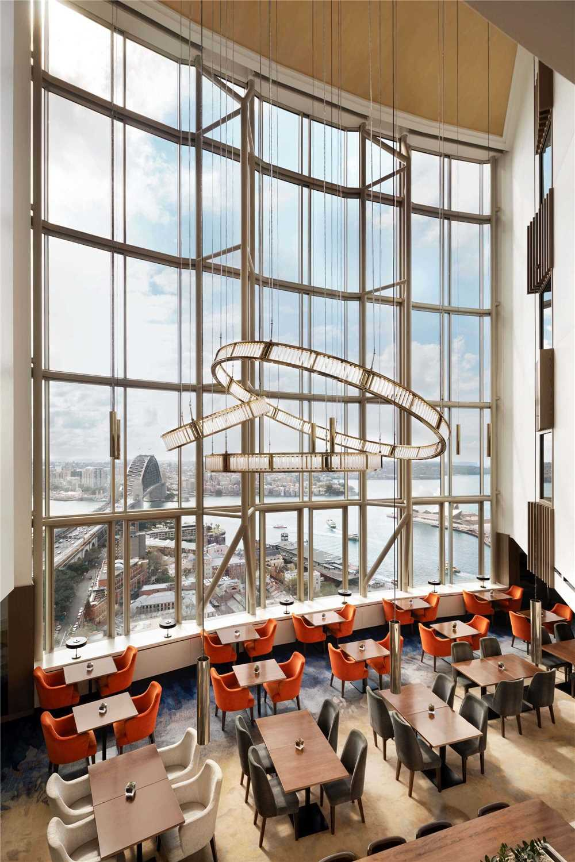 Shangri La Hotel Sydney Restaurant mit Ausblick