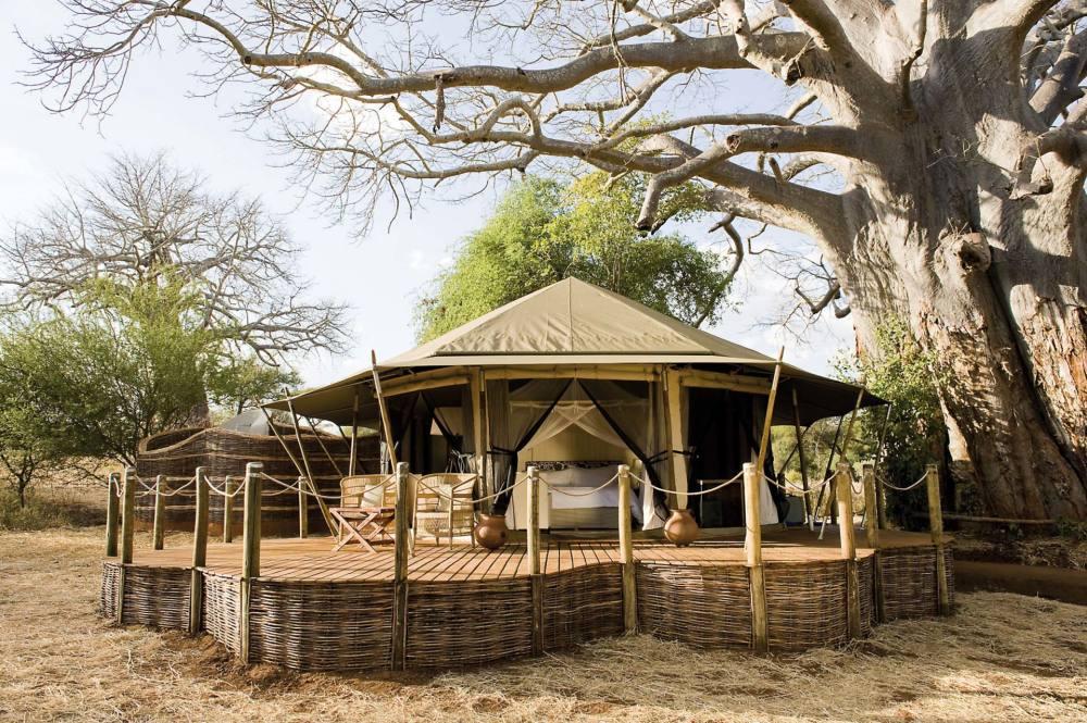 Sanctuary Swala Camp Ansicht Pavillon