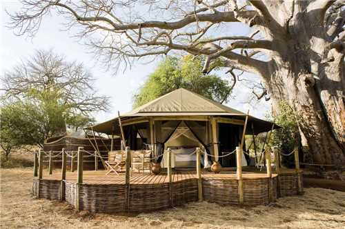 Sanctuary Swala Camp Ansicht Pavillon
