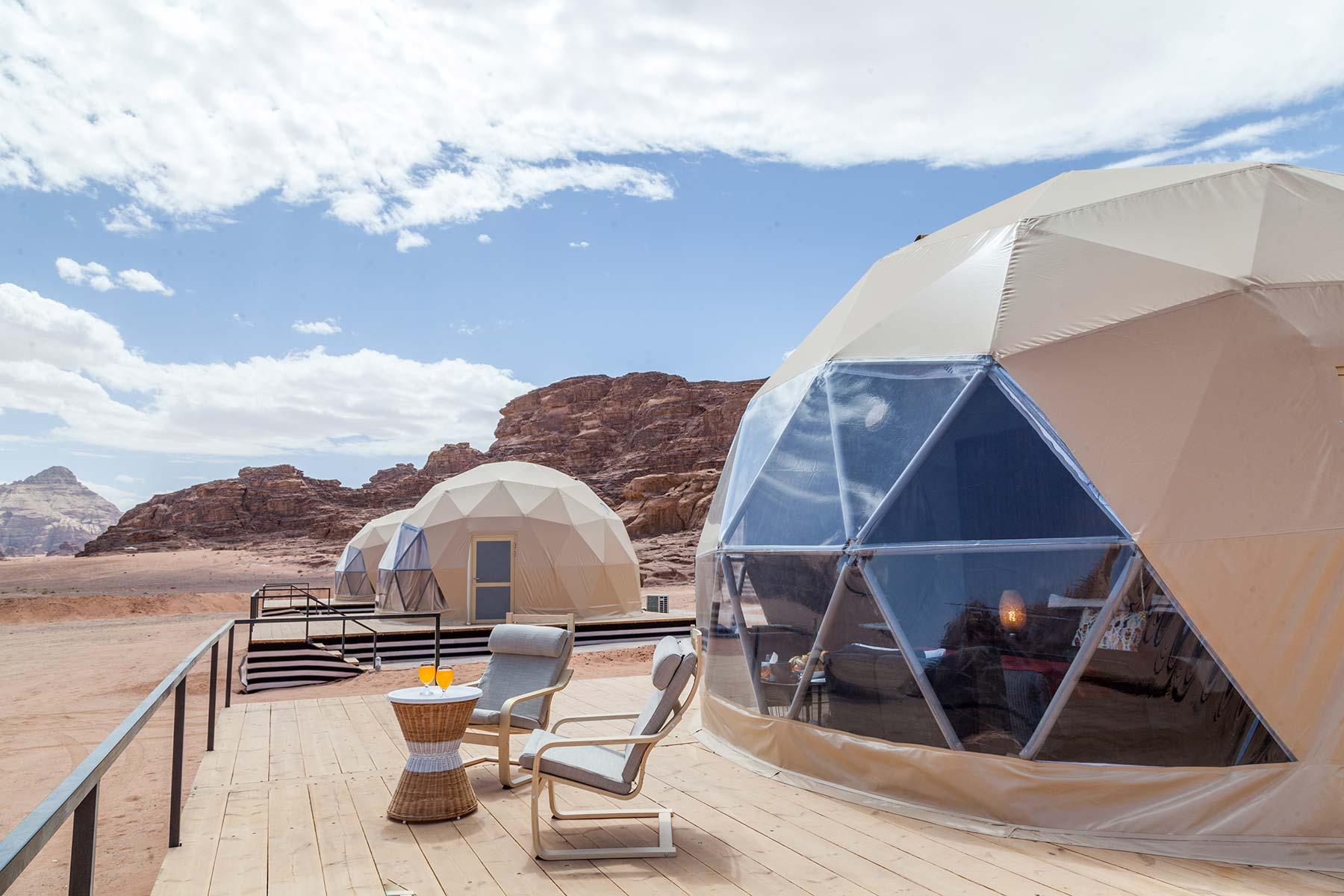 Sun City Camp im Wadi Rum Zelt von aussen