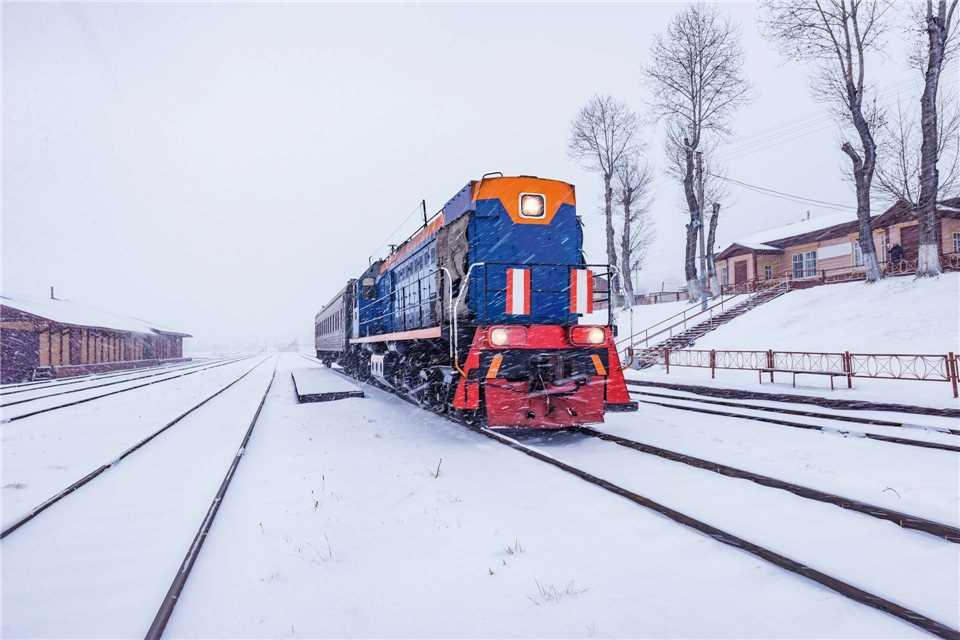 Sibirien Nachtzug Winter