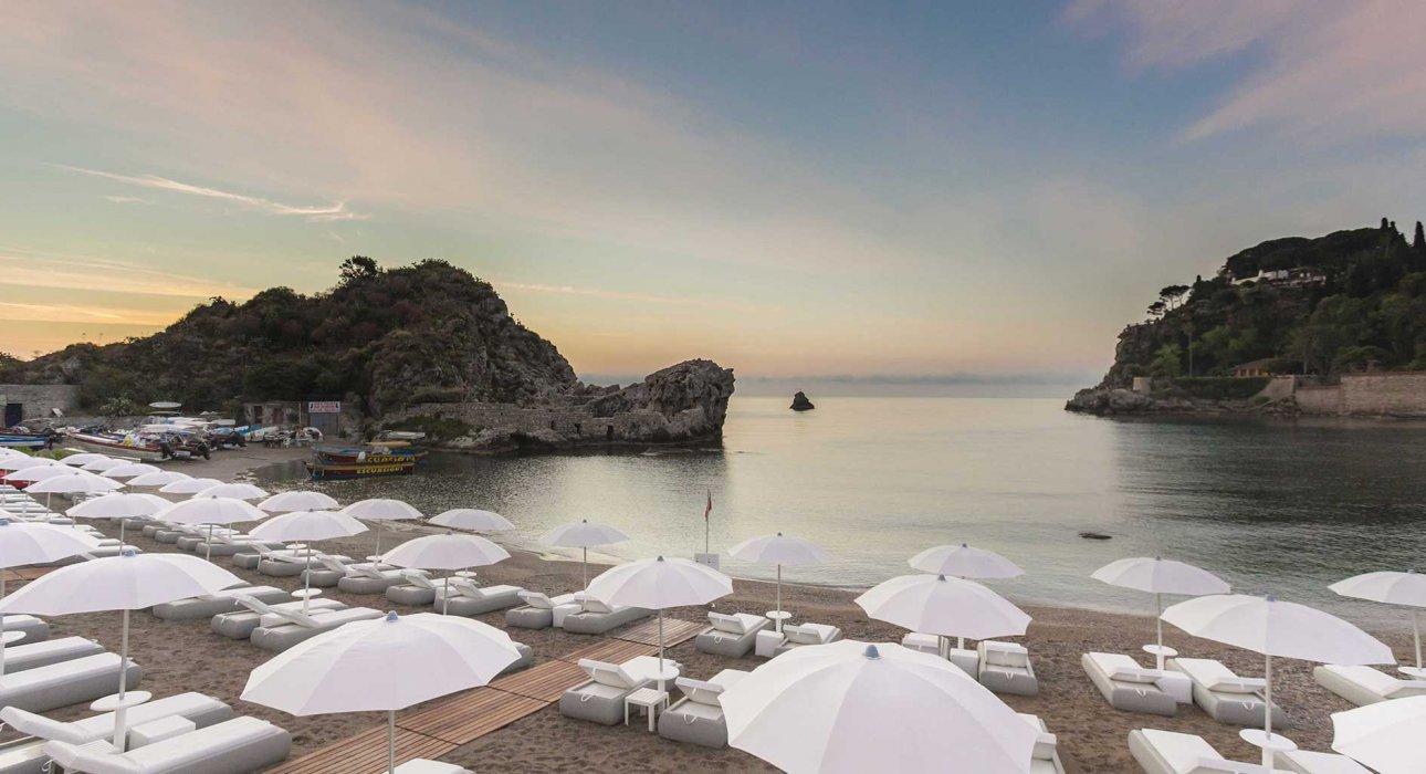 Grand Hotel Mazzarò Sea Palace Strand